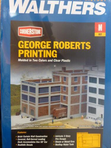 "Walthers Cornerstone N #933-3231 George Roberts Printing 4-1//2 x 7-3//4 x 7-1//4/"""