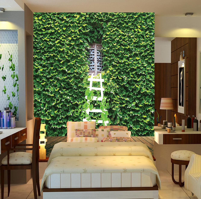 3D greene Blattleiter 575 Tapete Tapeten Mauer Foto Familie Tapete Wandgemälde DE