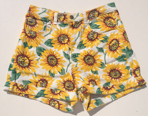 NEW-RRP-179-Womens-Stunning-American-Apparel-High-Waist-Floral-Shorts