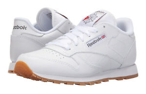 310720b9513 Image is loading Reebok-Classic-Leather-White-Gum-Junior-Big-Kids-