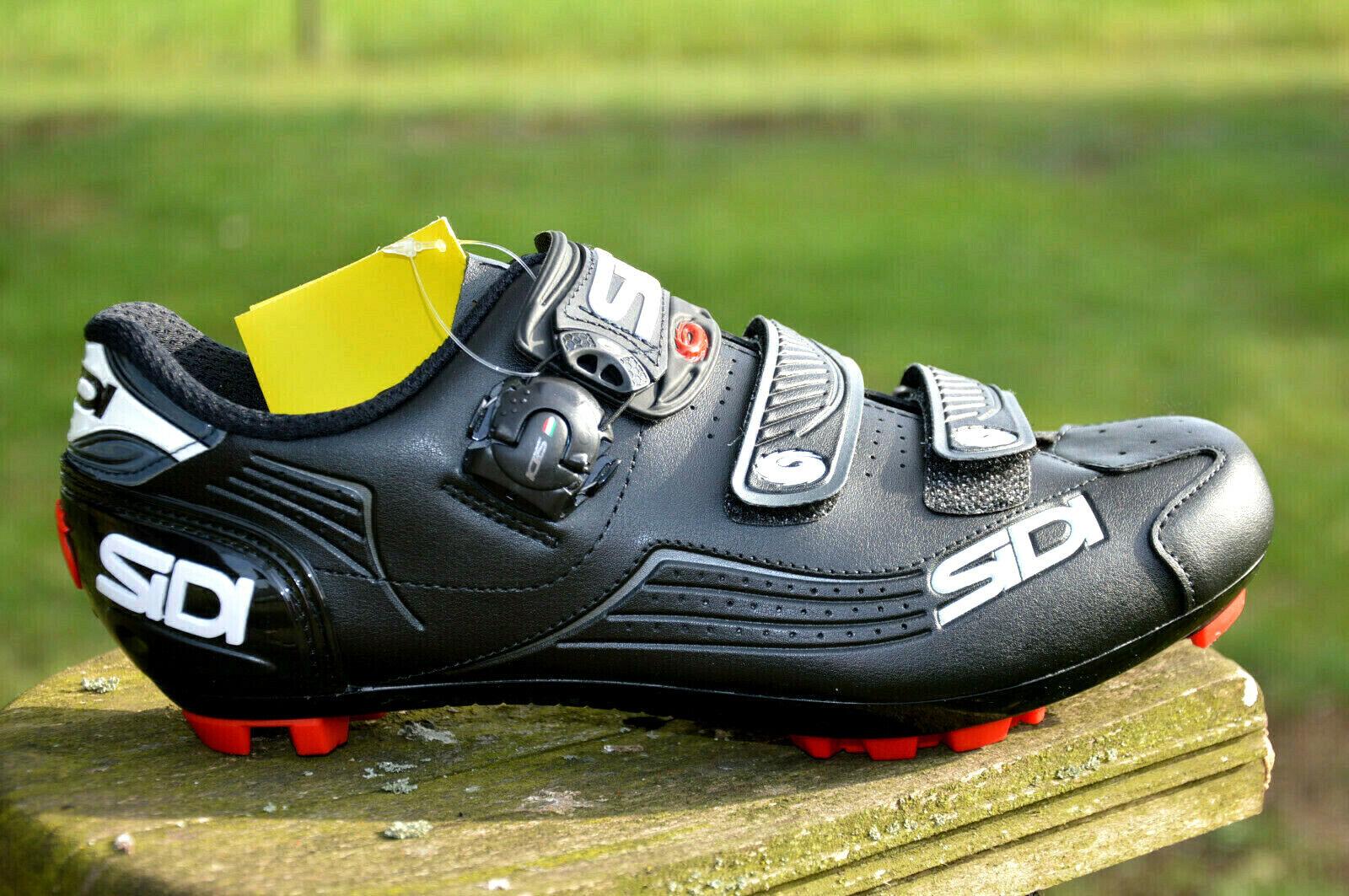 8fb3e6bd3a6 SIDI Trace Carbon MTB Bike Shoes 3 Closure Drehsystem Black 2018 43 ...