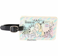 Disney Alice In Wonderland Flowers Faux Leather Luggage Tag Backpack Bag Id
