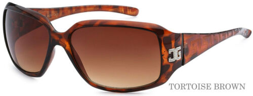 Tortoise Brown Frame 2015 Womens Ladies Eyewear Designer Wrap Sunglasses
