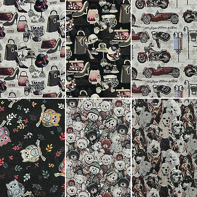 Upholstery Crafts Curtains Vintage Novelty Tapestry Fabric for Cushions