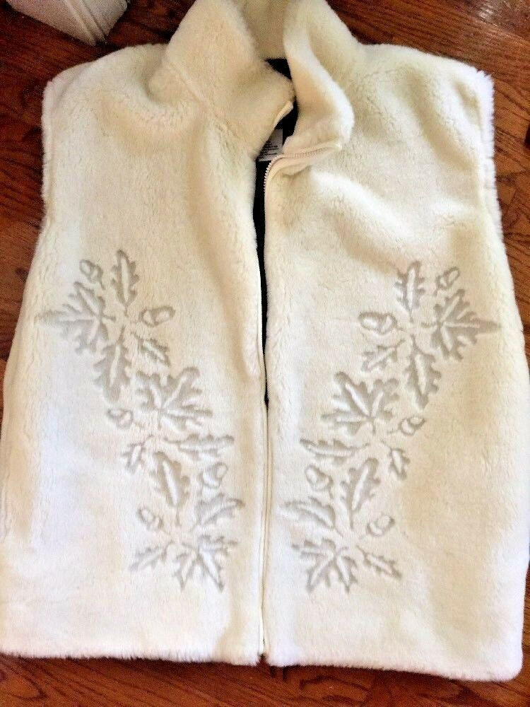 NOT FUR REAL BY DUFFEL Woodsy Warm SWEATER LINED WINTER VEST WOMENS SIZE LARGE
