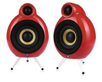 Podspeakers Micropod Bluetooth Red Wireless Active Speakers (pair) on Sale