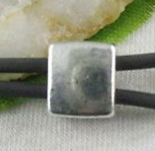 10pcs Tibetan Silver Square Spacer Beads 2 Holes T8640