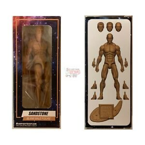 """PALE PEACH MALE Blank Boss Fight Studios 4/"""" Inch Bagged ACTION FIGURE"""