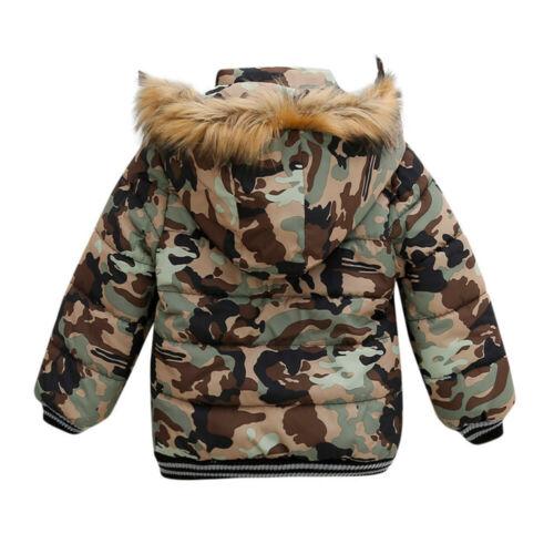Baby Boys Coat Children Winter Jacket Outwear Kids Jacket Warm Hooded Clothes KP