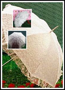 f3cf422dc7a2 Caricamento dell immagine in corso Ombrello-da-sposa-MATRIMONIO-BIANCO-con- pizzo-impermeabile-
