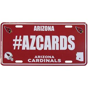 Arizona Cardinals Hashtag License Plate 94746001063 | eBay  for sale