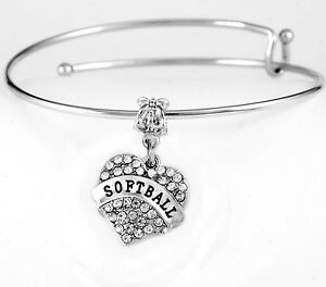 Softball-player-Bracelet-Softball-bangle-Softball-bracelet-softball-present