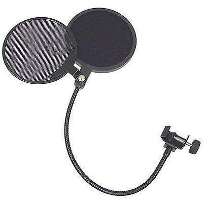 Double-Head Pro Studio Microphone POP Filter Wind Screen