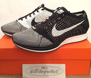 a40c030423c NIKE FLYKNIT RACER BLACK WHITE US UK7 8 9 10 11 12 OREO 526628-002 ...