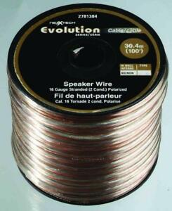 Nexxtech 16-gauge stranded speaker wire - 30m (clear)