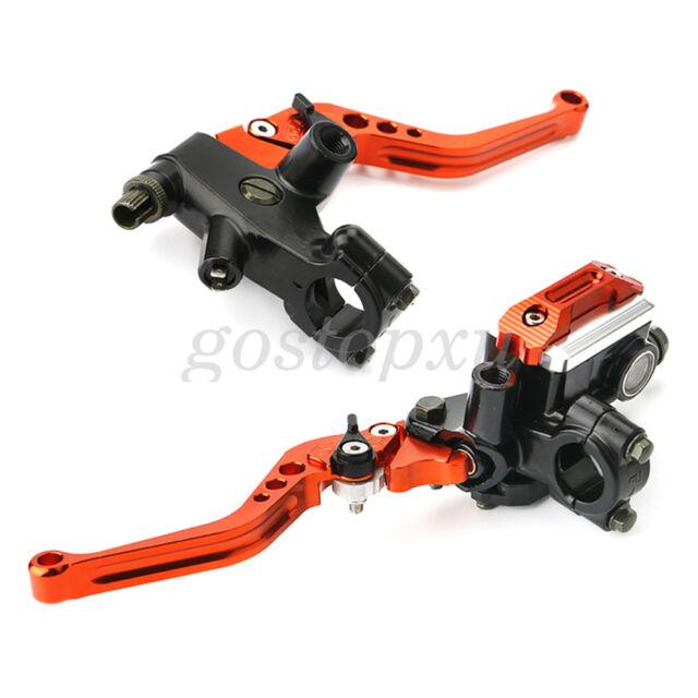 Universal Orange 7/8' 'Motorcycle Brake Clutch Master Cylinder Levers Reservoir