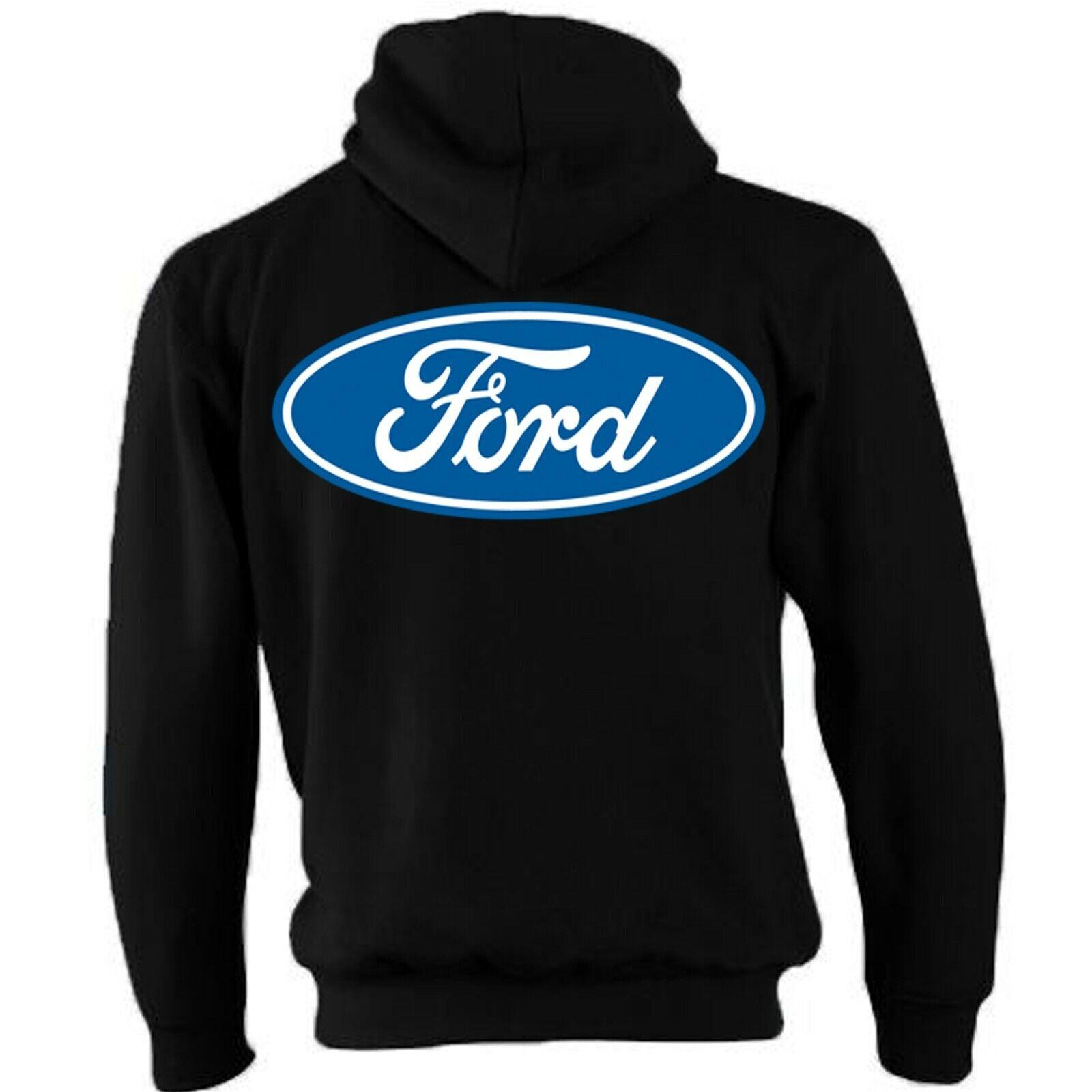 Con Licenza Ufficiale Originale Ford Zip Cappuccio Giacca America America America Retrò Blu Logo d69958