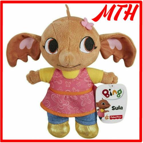 "Cbeebies Bing Bunny SULA 8/"" Soft Plush Toy Fisher Price Mattel Original 2014 NEUF"