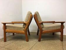 2x 70er Jahre Teak Sessel Easy Chair Loungechair Glostrup Denmark Danish Design