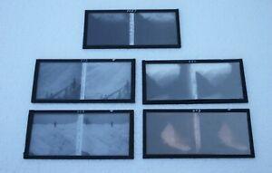 Cinq-plaques-verre-6-X-13-stereoscopique-Chamonix-Bossons-les-glaciers-et-diver