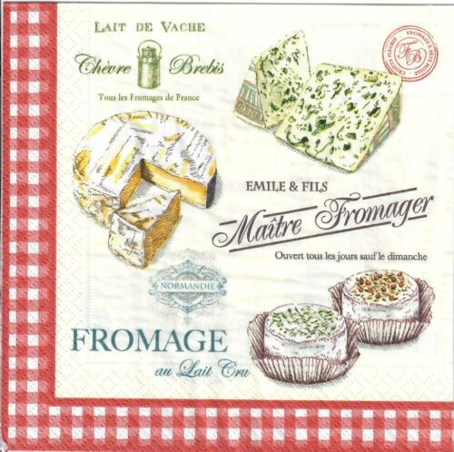 20 solo papel Servilletas 131P todo Pack Tabla de queso queso de país Fromage