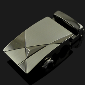 Luxury Leather Men/'s Automatic Belt Buckle Fashion NO Waist Strap Belt Waistband