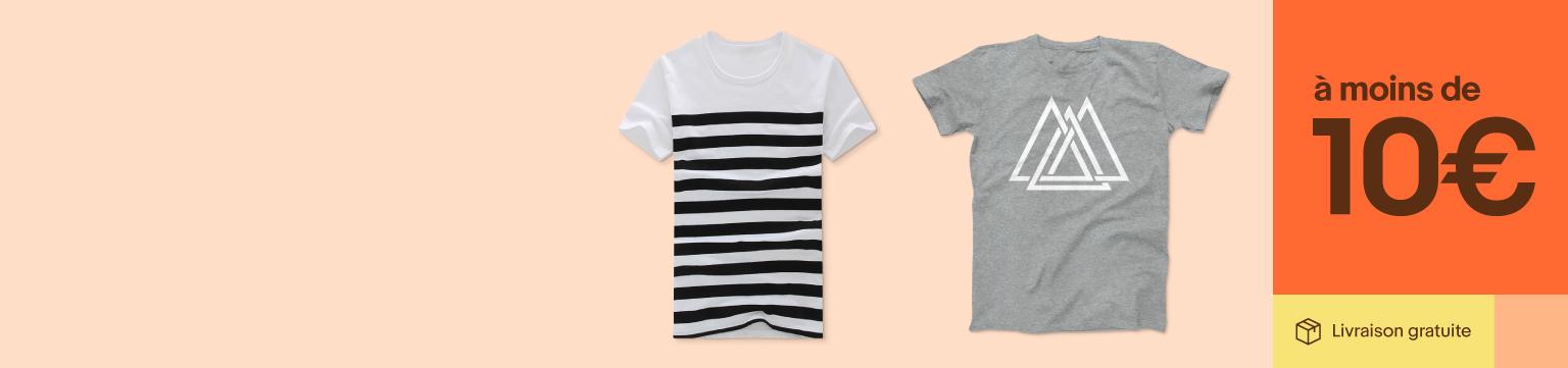 T-shirts pour homme à moins de 10€
