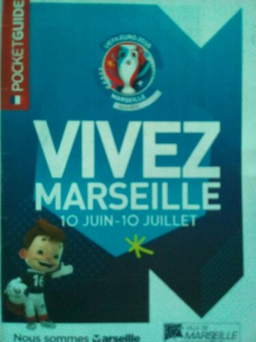 Pocket Guide UEFA Euro 2016 France Enjoy Vivez Marseille