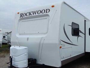 ORIGINAL LOOK) ROCKWOOD FOREST RIVER DECALS STICKERS RV CAMPER WHEEL ...