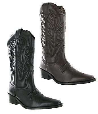 Besorgt Gringos High Clive Cowboy Western Mens Leather Pull On Pointed Toe Boots Uk6-12 Festsetzung Der Preise Nach ProduktqualitäT