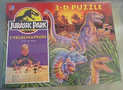 Utile Jurassic Park 3-d 3d Puzzle 3 Velociraptors Mb Spese Gratis
