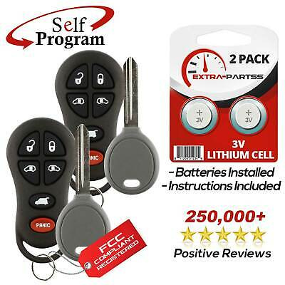 2 New For 2002 2003 2004 Chrysler Town /& Country Remotes Keyless OEM Electronics