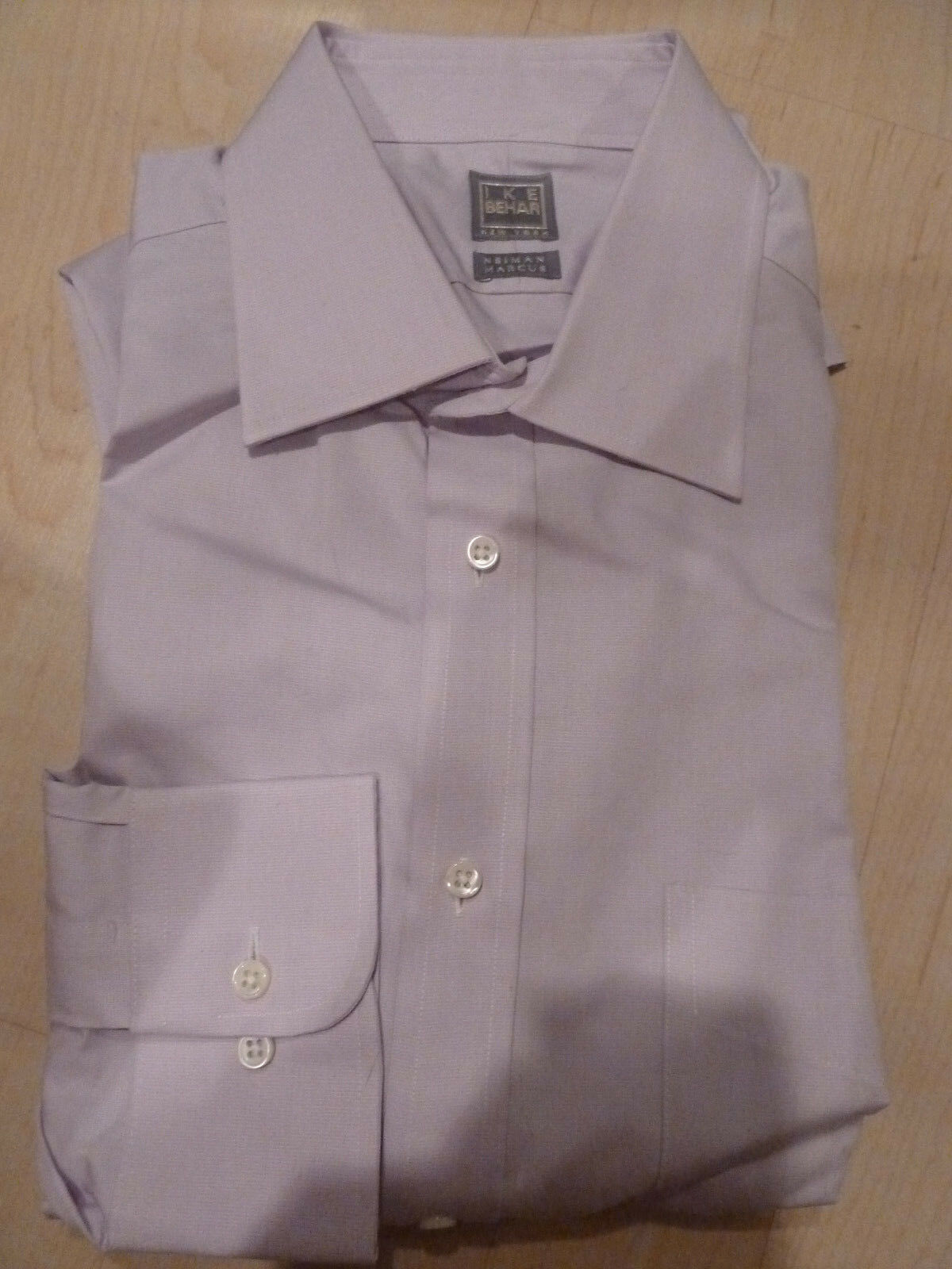 NEW  IKE BEHAR Mens Dress SHIRT 16 34 35 purplec Made in USA BC gold