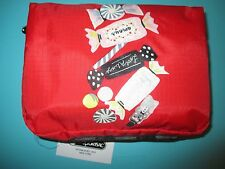 NEW LESPORTSAC Cosmetic Make Up Bag XL Rectangular Red Sweet Confections