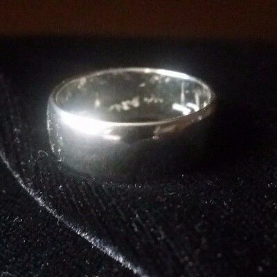 Quality In Alert New Pure Platinum 999 Bullion Sz9-13 Mens Ring By Joey Nicks Anarchy Jewelry #59 Superior