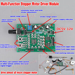 Brilliant 2 Phase 4 Phase 5 Wire Stepper Motor Dc 5V 12V Driver Board Speed Wiring 101 Cabaharperaodorg