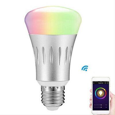 E27/B22 RGB LED Smart Bulb Wireless WiFi App Light Lamp for Home Remote Control