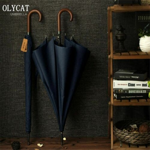 New Arrival OLYCAT Brand Long Umbrella 8K Windproof Wooden Handle Large Men Umbr