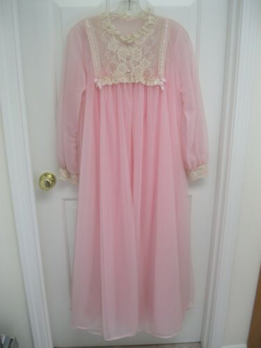 Vintage Val Mode Nightgown Peignoir Set -  Pink Ch