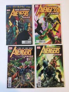 Near-Complete-Set-Avengers-Prime-1-2-3-4-Marvel-Comics-2010-VF-NM