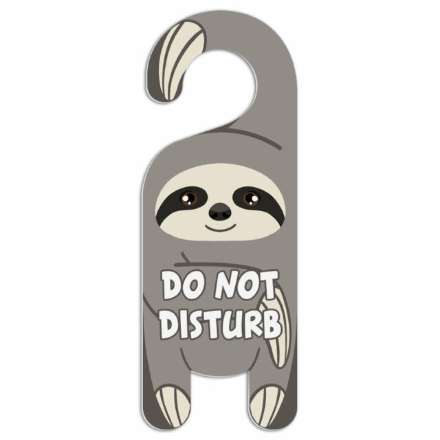 Raccoon Do Not Disturb Plastic Door Knob Hanger Warning Room Sign