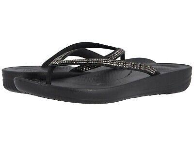 047ebc727a56 Women s Shoes Fitflop iQUSHION SPARKLE Flip Flop Thong Sandals R08-001 BLACK