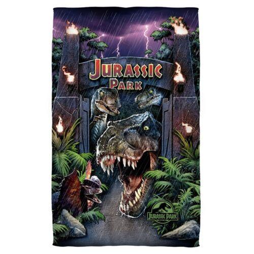 New 27x52 Jurassic Park World Beach Bath Pool Towel Dinosaur Movie Velociraptor