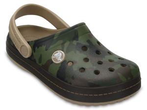innovative design 02b51 d84e8 Dettagli su Crocs Crocband Graphic Clog Kids camouflage sandali bambino  mare ciabatte gomma