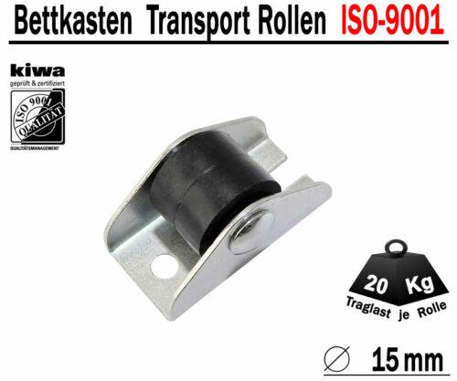 Kastenrolle Tischrolle Möbelrollen 16 x Ø 15mm Polyamid Schwarz ISO-9001 Germany