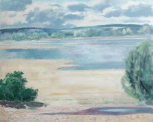 Pierre-Matthew-1899-1982-Morning-Sommer-auf-der-Loire-Hsp-La-Charity-Sur-Loire