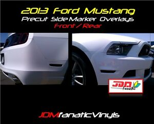 13-14 Mustang Smoked FRONT & REAR Side Marker Overlays