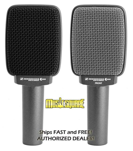 Sennheiser E609 Silver Super-cardioid Dynamic Guitar Microphone E-609 SHIPS FREE