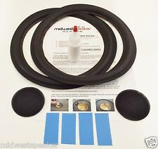 "Acoustic Research AR3a AR-3a 11"" Woofer Repair Foam Kit w/ Shims & Dust Caps!"