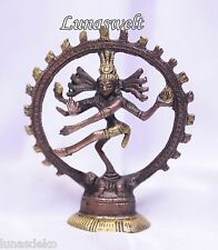 Shiva Nataraja Figur Messing 10 cm Statue zweifarbig